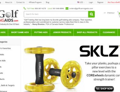 SKLZ affiliate banner from golf training aids