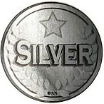 silver medal medallion