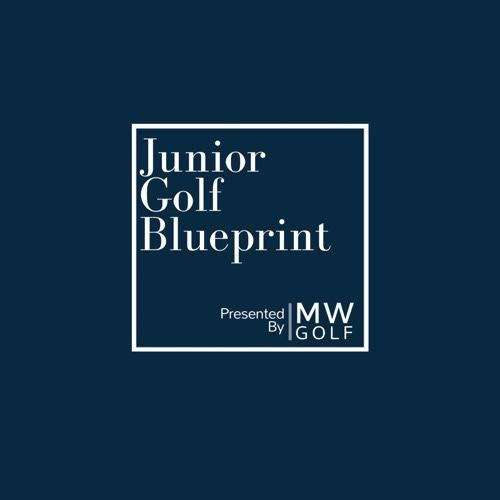 logo for Junior Golf Blueprint by Matt Walter in blue